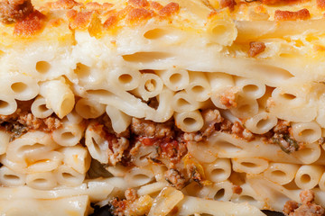 Pastitsio - Greek layered, baked pasta dish