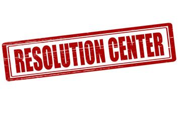 Resolution center