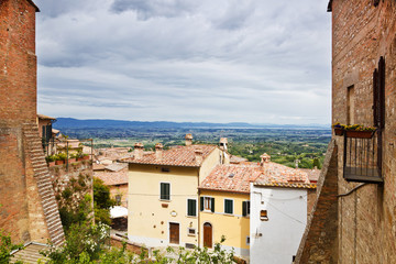 The town of Montepulciano in Tuscany. Italy