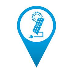 Icono localizacion simbolo panel solar
