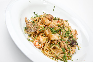 pasta with seafood