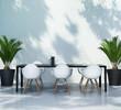 Contemporary elegant mediterranean dining table