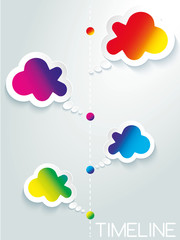 Info graphic design business web icon cloud