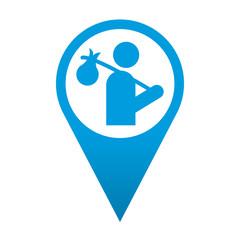 Icono localizacion simbolo vagabundo