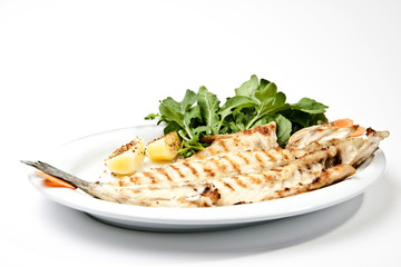 grilled sea bass