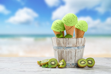 Ice Cream At The Beach