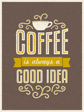 Retro Typography Coffee Poster