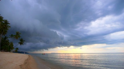 Dark Storm Clouds over Palm Beach.