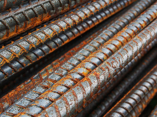 Rust steel rods or bars