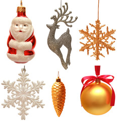 Collection of christmas toys