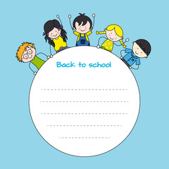 children back to school. Frame for text