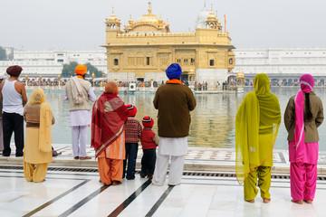 Pilgrims  praying at the Golden temple