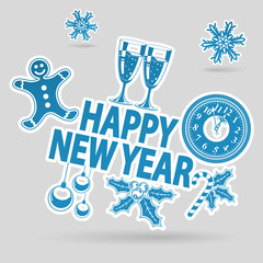 New Year Sticker