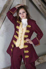 young woman dressed as a prince