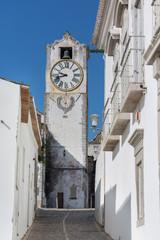 historic clock tower view - Church of Santa Maria do Castelo- in