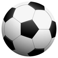 black and white football - vector illustration