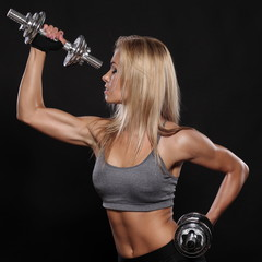 Fitness and Exercise Female Bodybuilder