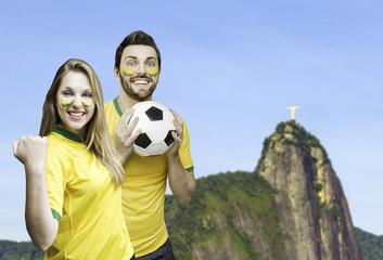 Brazilian fans celebrates in Rio de Janeiro, Brazil
