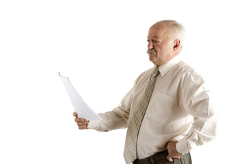 Businessman with the document in a hand