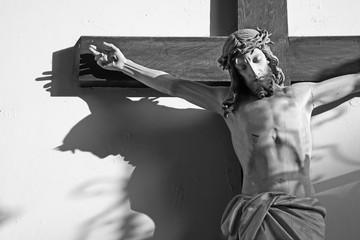 Jeusus on the cross in vestibule of church in Vienna
