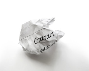 crumpled contract