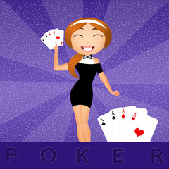 illustration of poker