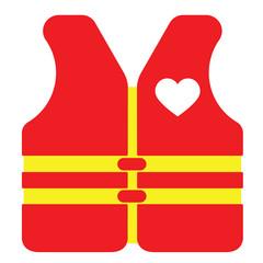Love vest, vector