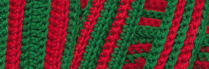 Closeup crochet stripes