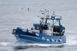 chalutiers navigant en mer d'iroise,bretagne - 66047142
