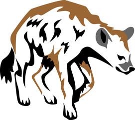 stylized hyena