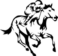 stylized racing horse
