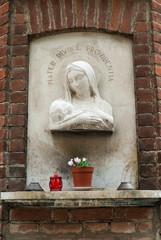 Statua Madonna con Gesù bambino, icona religiosa