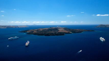 Insel Santorin - Blick auf Vulkaninsel Kameni