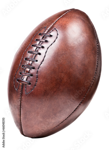 canvas print picture leather vintage football