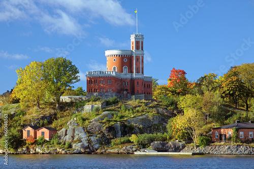 Staande foto Scandinavië Small Castle on Kastellholmen island in Stockholm