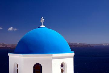 Kirchturm auf Santorin