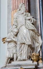 Vienna - Abraham and Isaac from church Maria Treu