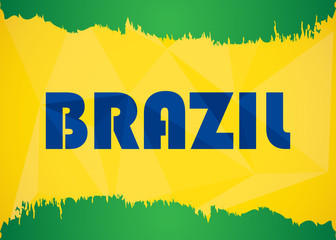 special abstract background in Brazil flag concept, eps10