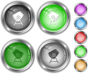Concrete mixer. Internet buttons.