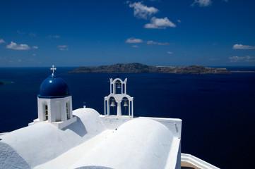 Griechische Kirche auf Santorin