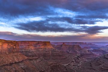 Beautiful Sunset near the Marlboro Point Canyonlands Utah