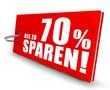 Bis zu 70% sparen! Button, Icon