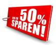 Bis zu 50% sparen! Button, Icon