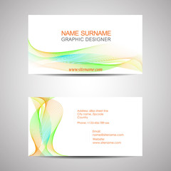 Abstract business card template or visiting card set