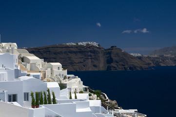 Weiße auf Santorin  - Griechenland