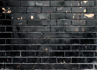 grunge black brick wall texture
