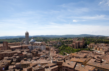 Italy. Panorama of Siena.