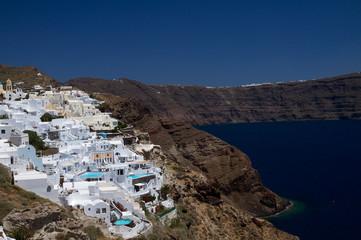 Weiße Häuser auf Santorin