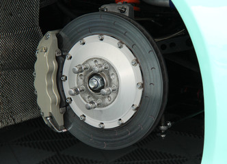 The Disc and Calliper of a Racing Sports Car.