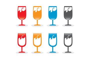 Vector Kadeh Şarap